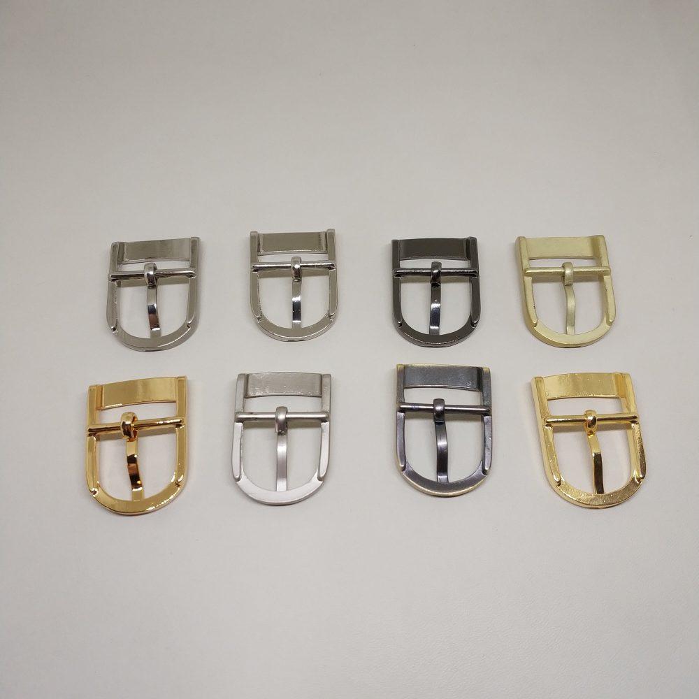 19mm (In-Belt Width) Small Zinc Alloy Metal Middle Pin Buckles for Belt