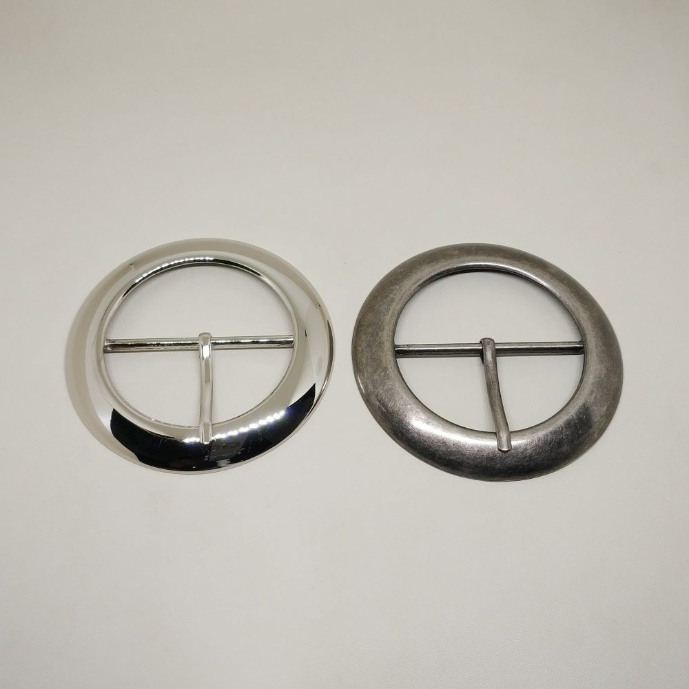 50mm (In-Belt Width) Big Round Circle Metal Middle Pin Buckle