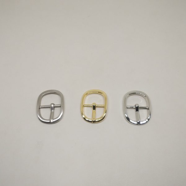 18mm (In-Belt Width) Oval Round Metal Middle Pin Buckle for Bag