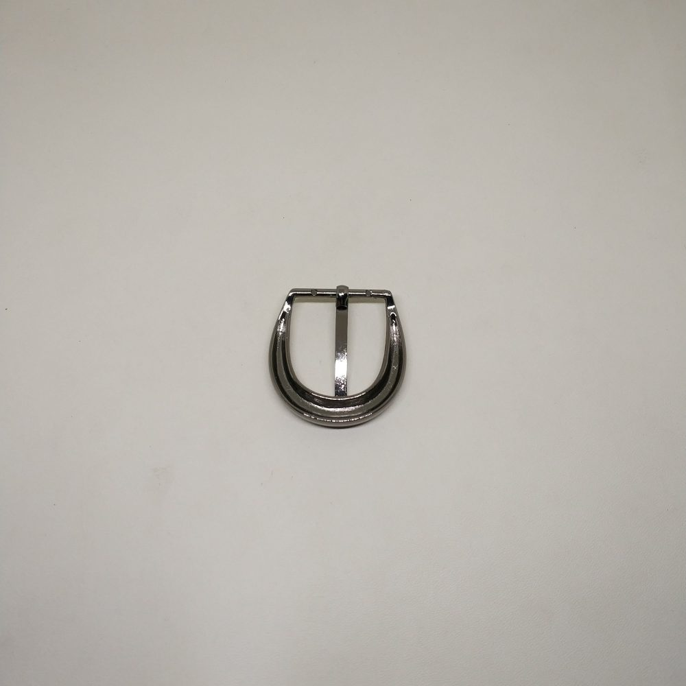 26mm (In-Belt Width) Clear Curved Edge Metal Pin Buckle