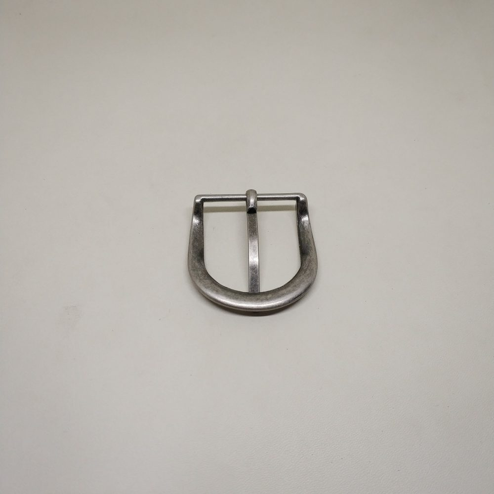 32mm (In-Belt Width) Curved Edge Zinc Alloy Metal Pin Buckle for Straps
