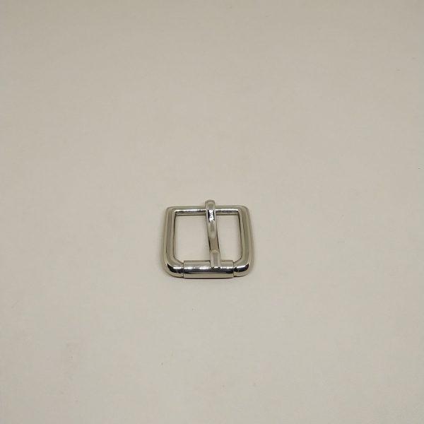 20mm (In-Belt Width) Fake-Rolling Pin Metal Buckle