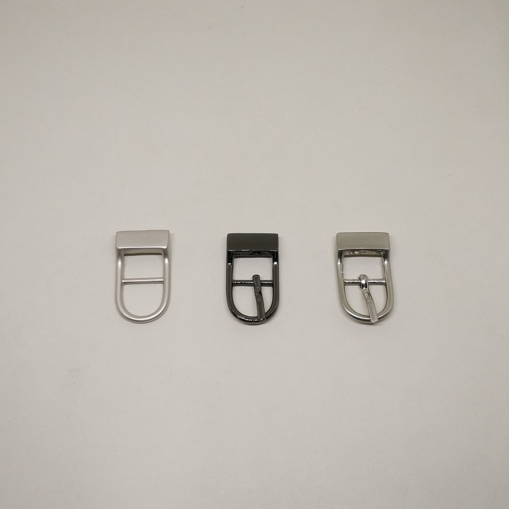13mm (In-Belt Width) Curved Head Metal Middle Pin Buckle