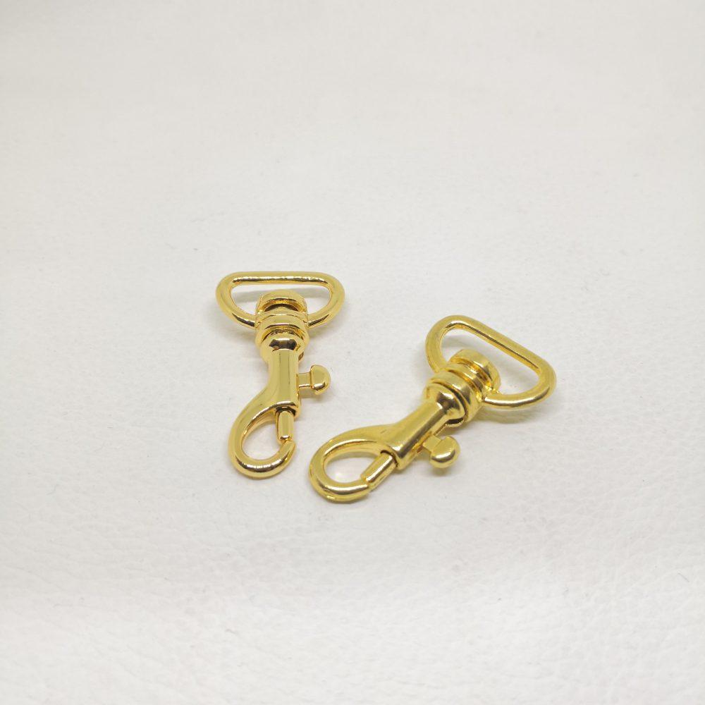 15mm (In-Belt Width) Zinc Alloy Metal Snap Dog Hook for Dog Collar / D.I.Y. Leather/Handbag Making Use