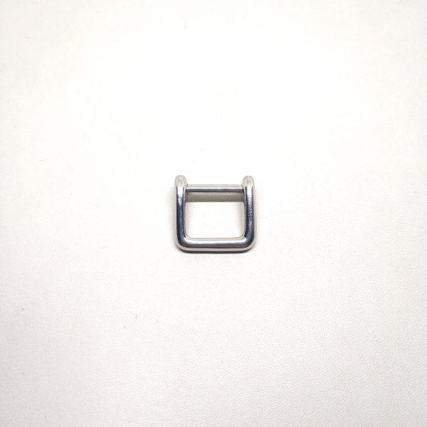 15mm (In-Belt Width) Screwing Square Metal D Ring