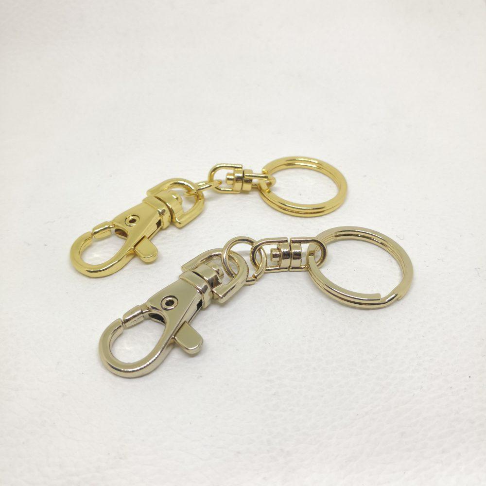 20mm (In-Belt Width) Metal Key Ring Gift with Snap Hook