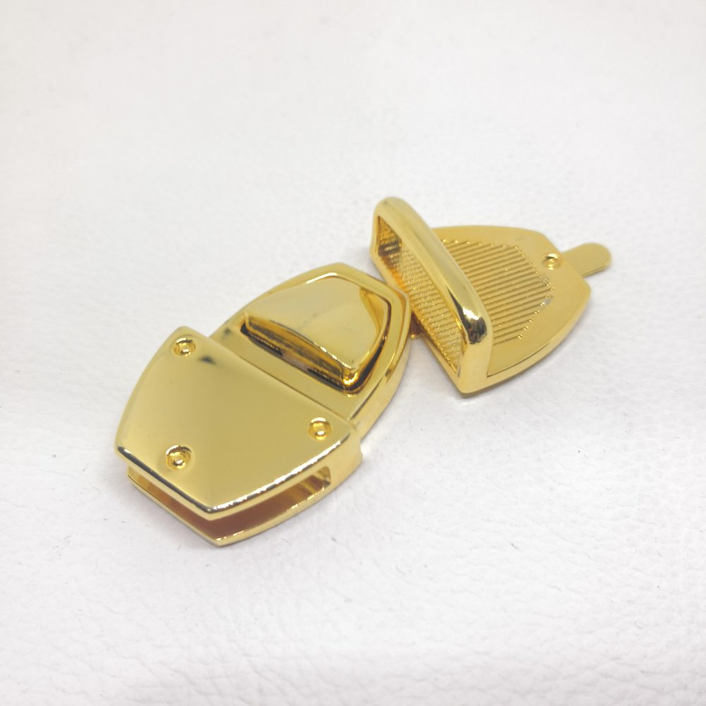 31mm (In-Belt Width) Zinc Alloy Metal Push Snap Lock for Handbag / Leather-Made / D.I.Y Use