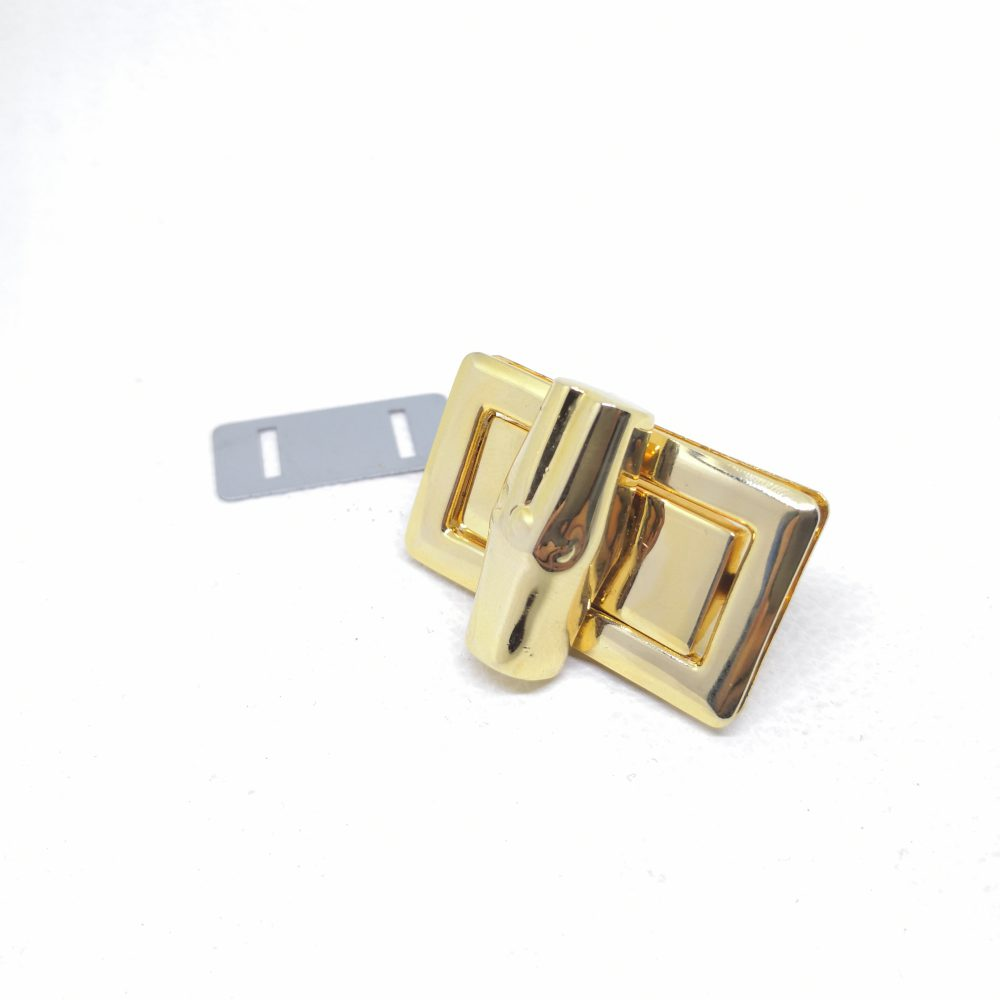 41mm (In-Belt Width) Bamboo Shape Rectangular Turn Twist Lock for Handbag / Leather-Made / D.I.Y. Use
