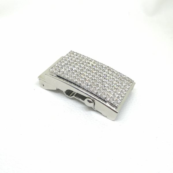 30mm (In-Belt Width) Metal Military Belt Buckle with Rhinestone for Belt Use
