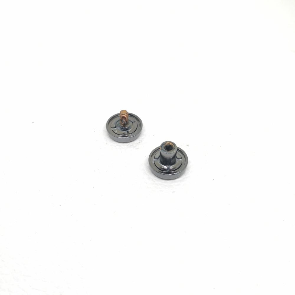 (12.2 x 5 x 5.5mm) Metal Screwing Double Rivet for D.I.Y Leather Belongings