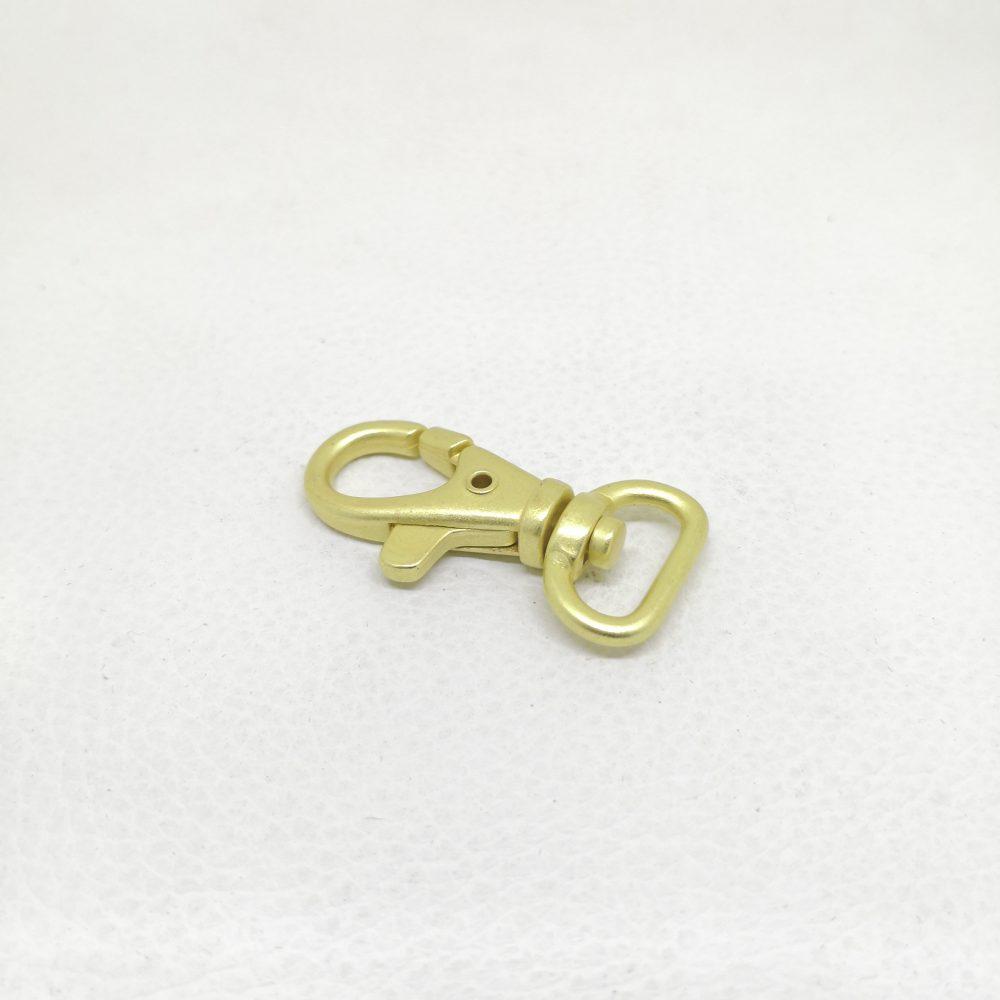 13mm (In-Belt Width) Zinc Alloy Metal Snap Dog Hook for Dog Collar D.I.Y. Leather Handbag Making Use