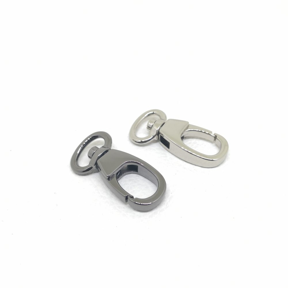 12mm (In-Belt Width) New Style Zinc Alloy Small Metal Snap Dog Hook for Dog Collar / D.I.Y. Leather / Handbag Making Use