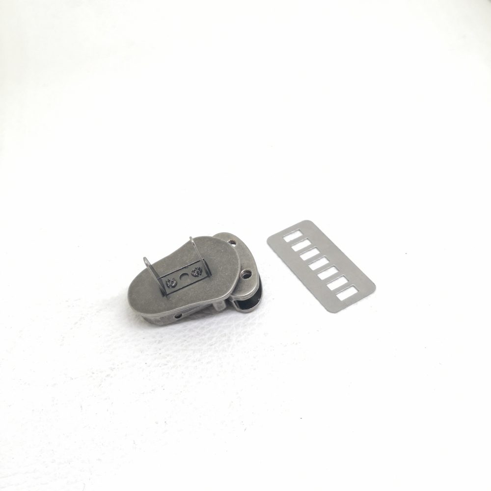 22mm (In-Belt Width) Small Zinc Alloy Metal Push Snap Lock for Handbag / Leather-Made / D.I.Y Use
