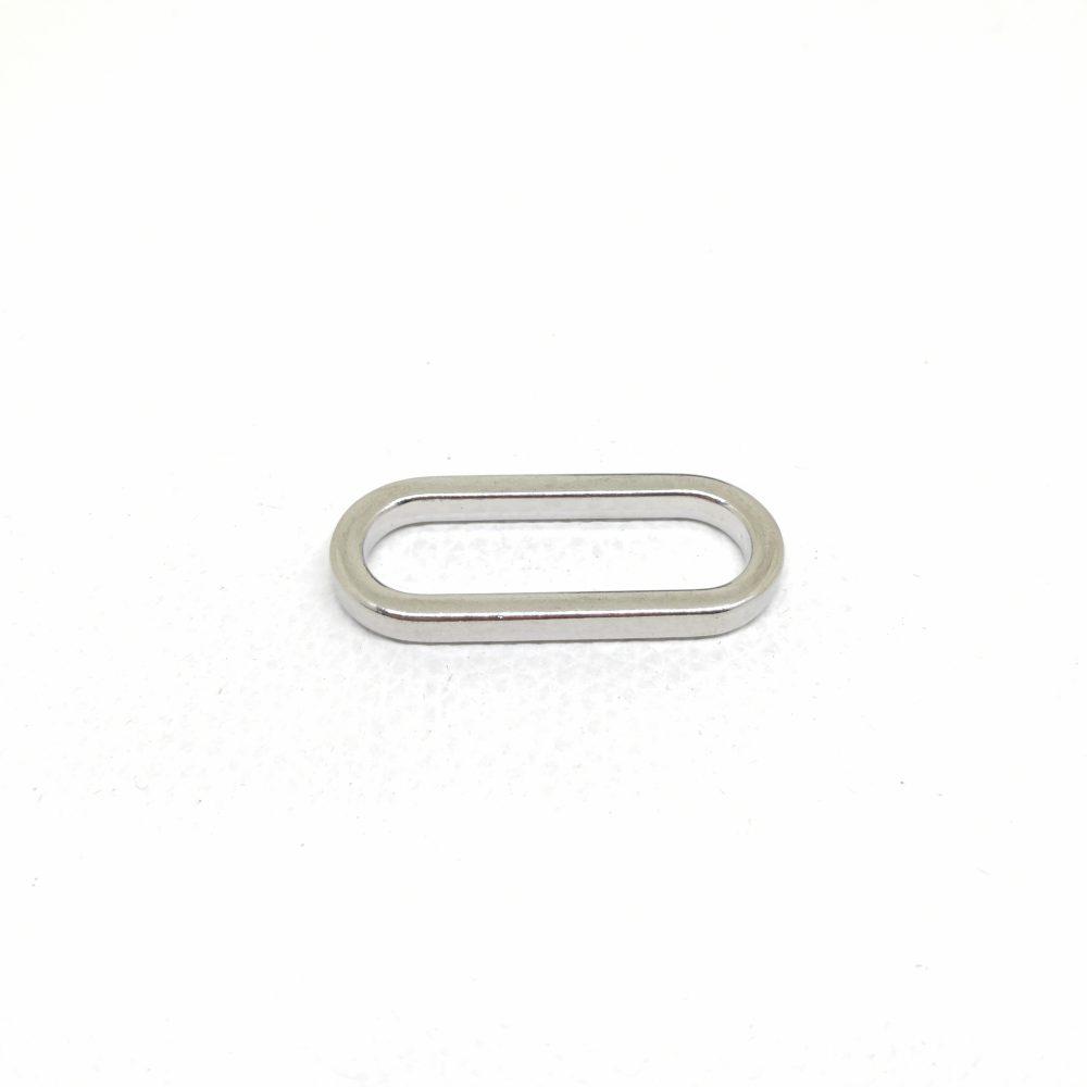 31mm (In-Belt Width) Metal Flat Oval Ring for Handbag / Fashion Maker Use
