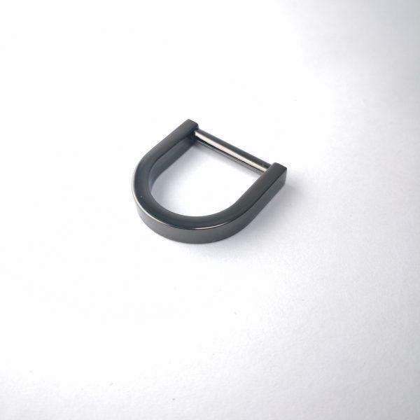20mm (In-Belt Width) Flat Modern Metal D Ring for Handbag / Fashion / Garment Use