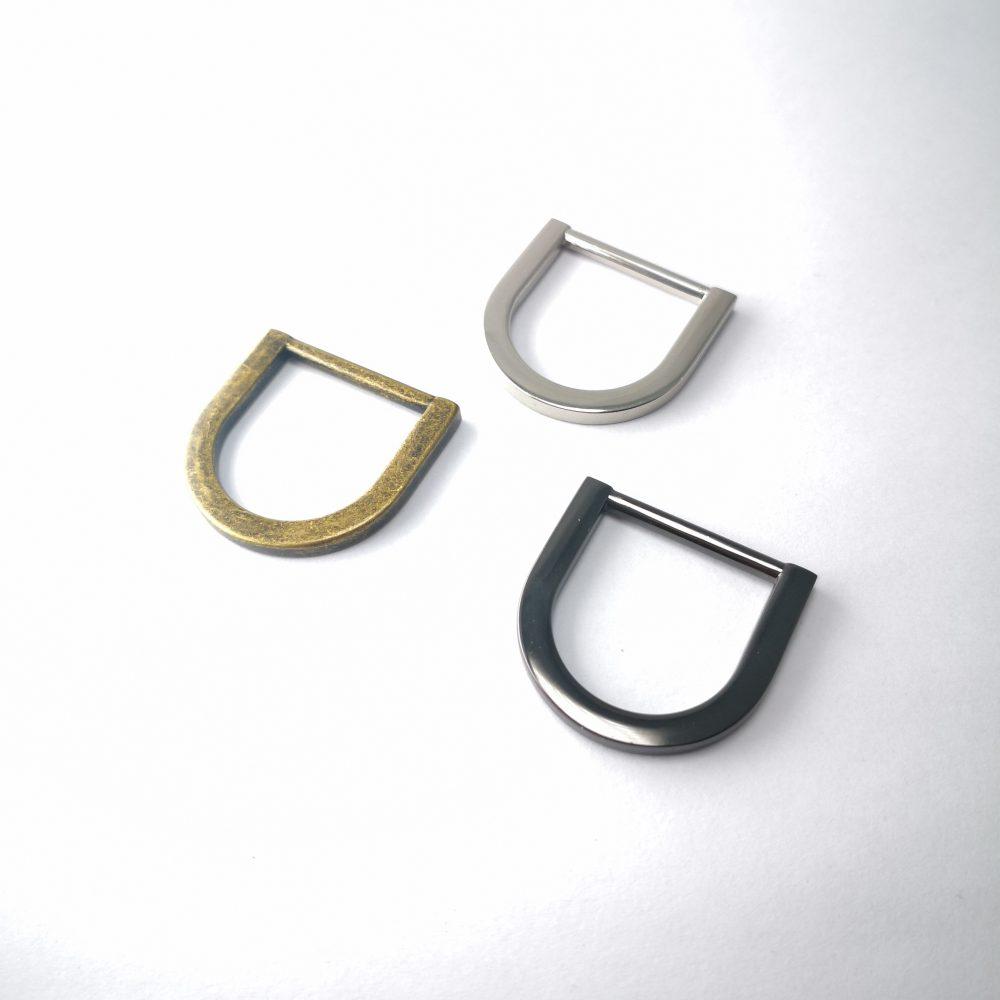 20mm (In-Belt Width) Flat Metal D Ring for Handbag / Fashion / Garment Use