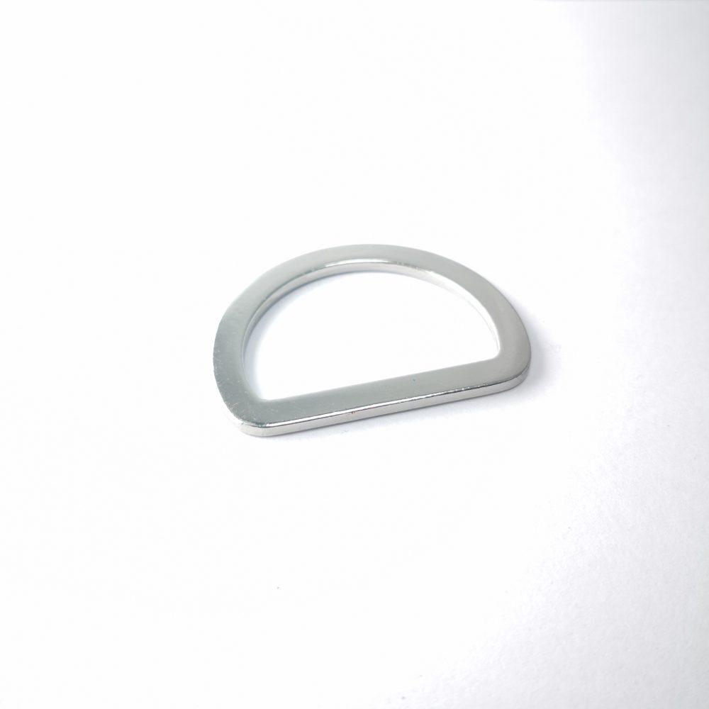 30mm (In-Belt Width) Flat Metal D Ring for Handbag / Fashion / Garment Use